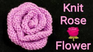 अब बुनाई से बनाएं गुलाब🌹Knit Rose Flower Easy Way.