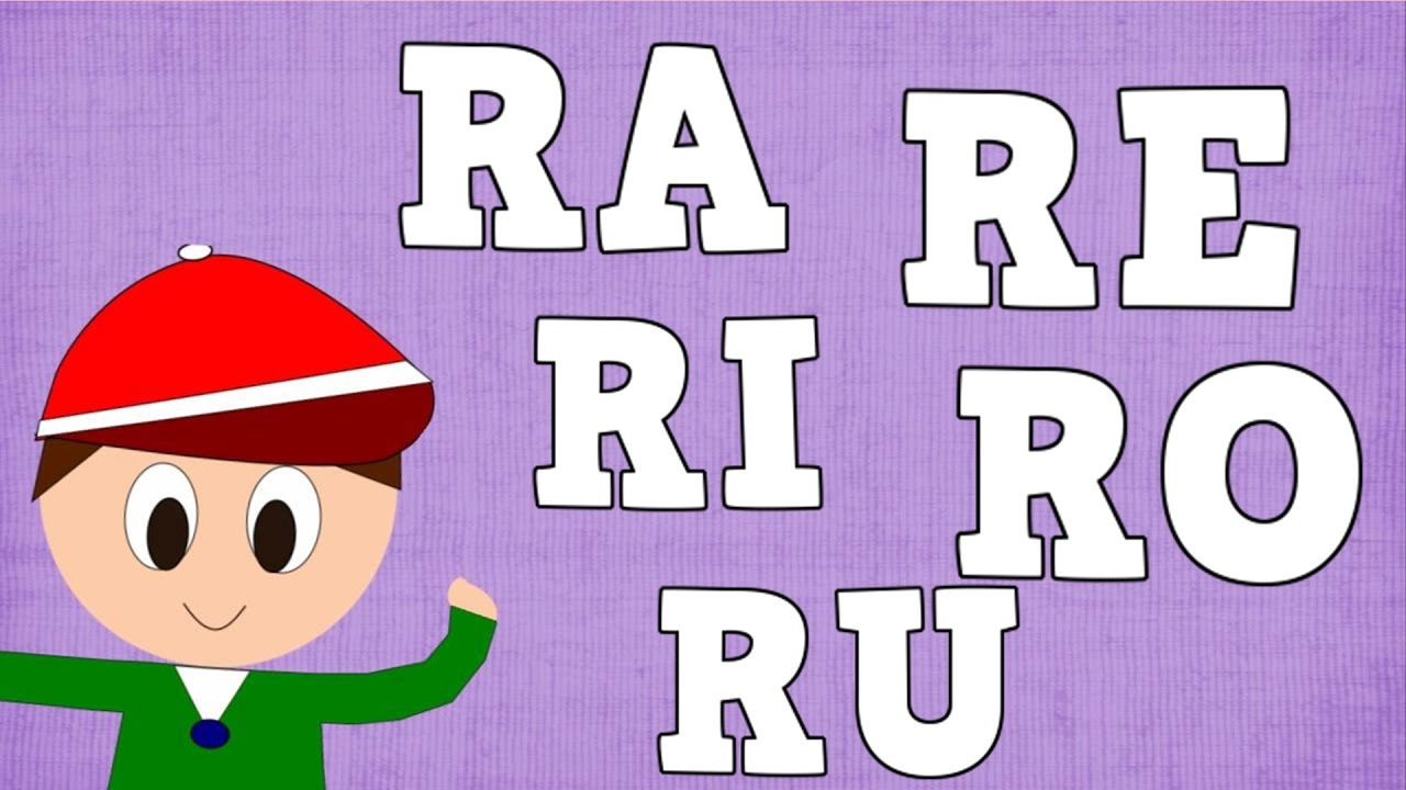 Sílabas RA RE RI RO RU - Syllable with R - Aprender a Leer