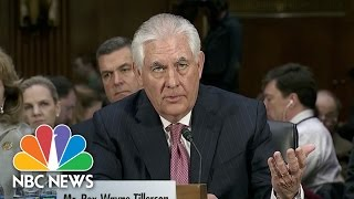 Rex Tillerson: Russian Hacking Report 'Clearly Is Troubling'   NBC News