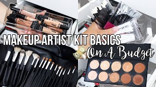 AFFORDABLE MAKEUP ARTIST KIT BASICS | Build Your Kit On A Budget | Jackie Ann