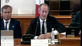 Roma   Audizione Zaia E Sindaci Venezia E Chioggia (31.07.19)