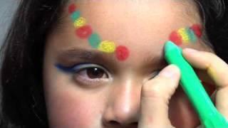 Maquillaje de fantasía de india