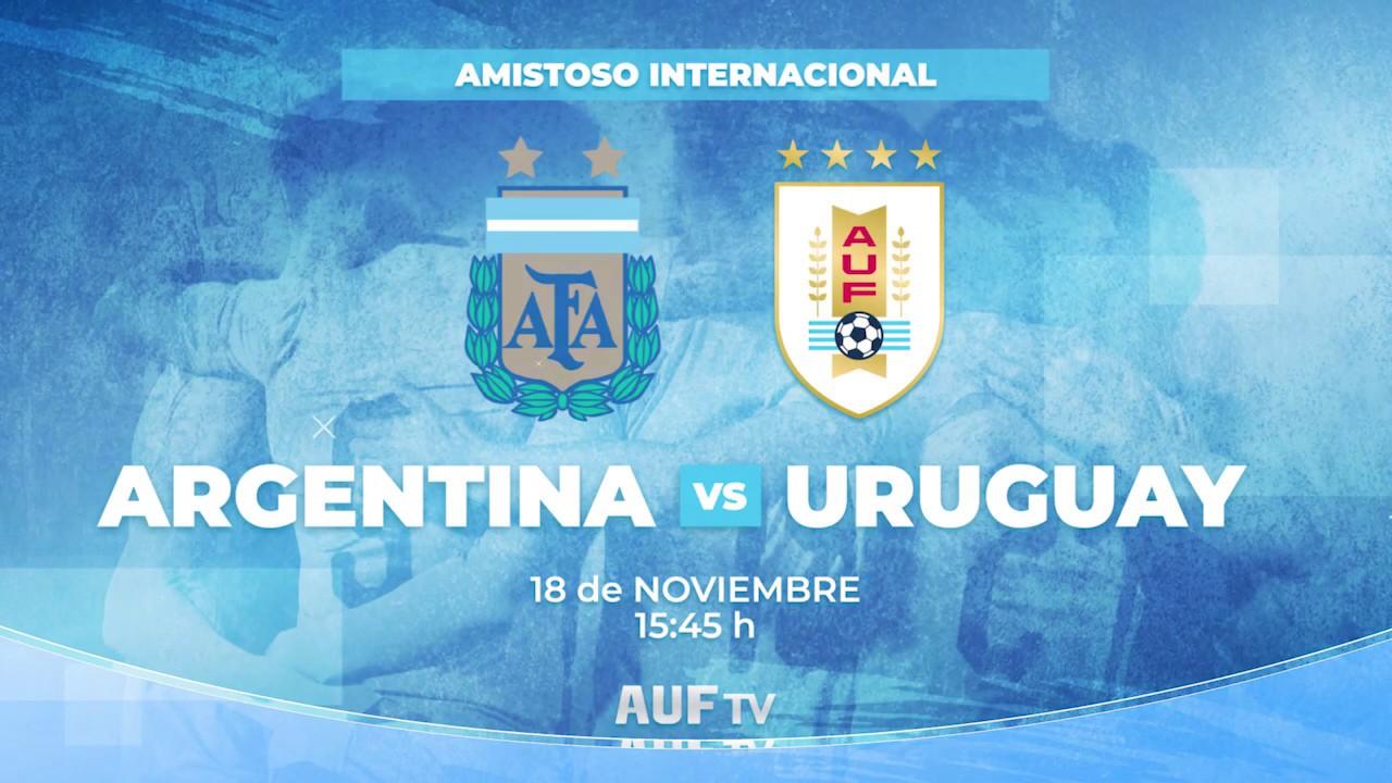 Argentina - Uruguay se podrá ver en AUF TV este lunes desde las 15:45 h por Vera + de Antel