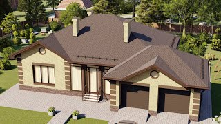 Проект дома 182-C, Площадь дома: 182 м2, Размер дома:  20,3x16 м