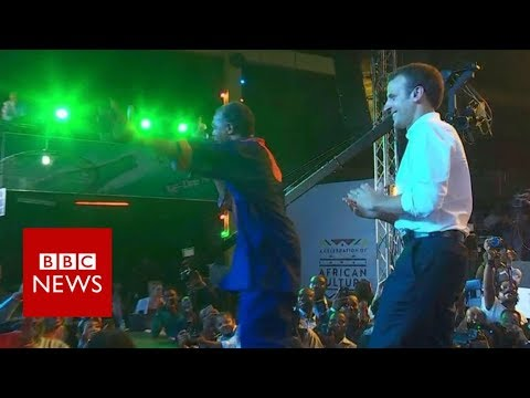 President Macron parties at Nigeria nightclub - BBC News