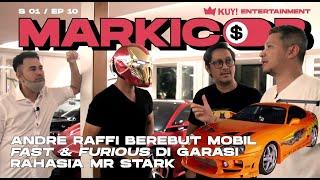 RAFFI & ANDRE PERAAANG! REBUTAN MOBIL DI GARASI RAHASIA MR STARK 100 M SUMBER GADING BROKER | PART 2