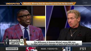 UNDISPUTED   Shannon reacts Zion & Donovan Mitchell among NBA stars to debut social justice message