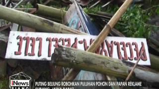 Hujan Deras Disertai Angin Kencang Mengakibatkan Puluhan Pohon Tumbang Di Subang  INews Siang 13/01