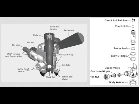 How to clean a draft beer tap keg coupler