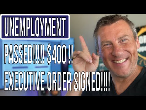 BREAKING Unemployment Extension $400 Now Signed Executive Order by Trump