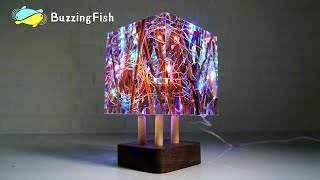Resin Night Lamp With Epoxy And Dead Branches / Resin ART