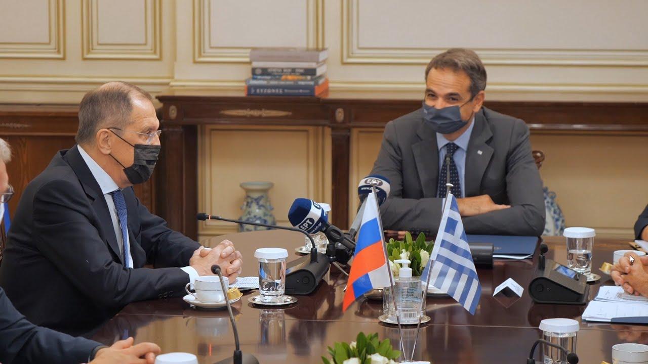 Συνάντηση πρωθυπουργού με τον Υπουργό Εξωτερικών της Ρωσίας