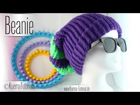 Knitting Loom- einfacher Beanie