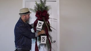Johanna Gaines Inspired Christmas Swag / Magnolia Market Inspired  Door Swag DIY