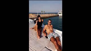 Squat on the yacht! Kourtney K works out beau Younes Bendjima
