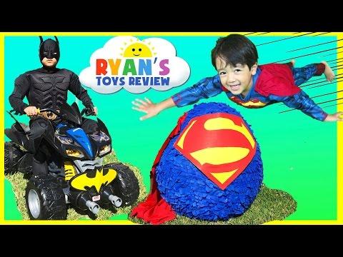 GIANT EGG SURPRISE OPENING SUPERMAN Imaginext SuperHeroes Toys Batman vs Superman Power Wheels