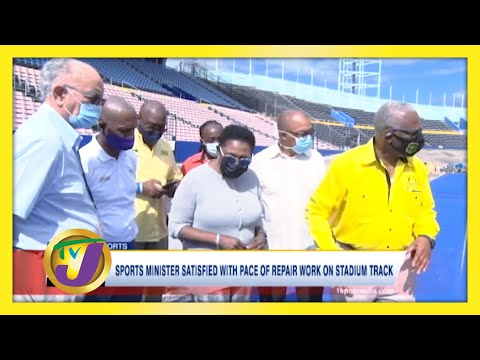 Sports Minister Satisfied with Pace of Repair work on Stadium Track January 24 2021