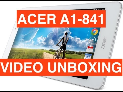 Acer A1-841, video unboxing