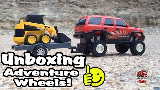 Adventure Wheels Toy Truck Unboxing - Bonus Skidsteer!