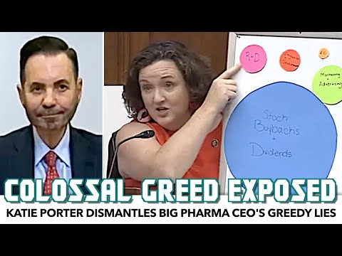 Katie Porter Exposes Big Pharma CEO's Greedy Lies To His Face
