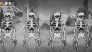 Gabe the dog spooky scary skeletons! #RipGabe