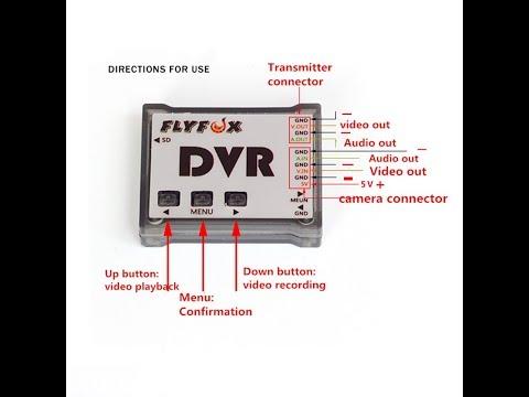 DVR FlyFox 1280p 720p 24FPS PAL NTSC da Banggood