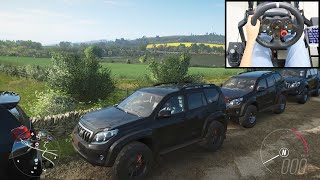 TOYOTA PRADO Land Cruiser - Forza Horizon 4 Online   Logitech g29 gameplay