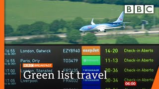 Covid: UK's foreign travel 'traffic light' lists due to be reviewed @BBC News live 🔴 BBC