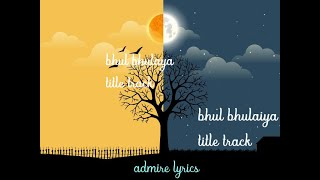 Bhool Bhulaiyaa Title Track lyrics - YouTube