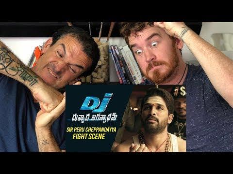 SIR Peru Cheppandayya Fight Scene REACTION! | Allu Arjun | DJ Duvvada Jagannadham