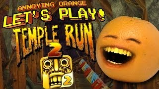 Annoying Orange Lets Play Temple Run 2