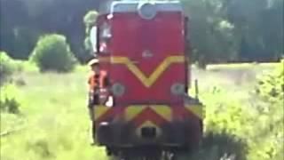 preview picture of video 'Przejazd Lxd2-09 ze składem turystycznym na trasie Rudy - Stanica - Rudy'