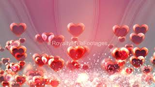 romantic background effect | love background | romantic background particles effect | Royalty Free