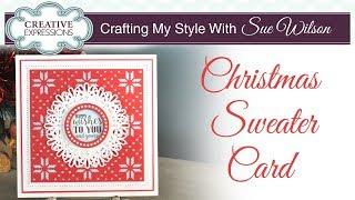 Simple Handmade Scandi Christmas Card | Crafting My Style With Sue Wilson