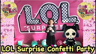 LOL Surprise New Year's Eve Confetti POP Party!! With Real Life Doll DUSK!!!