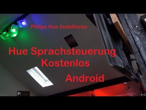 Philips Hue neue Beleuchtung kostenlose Sprachsteuerung Alexa auf dem Smartphone nutzen