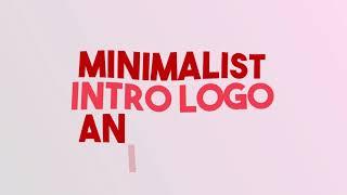 Intro minimalista para logo completamente única.