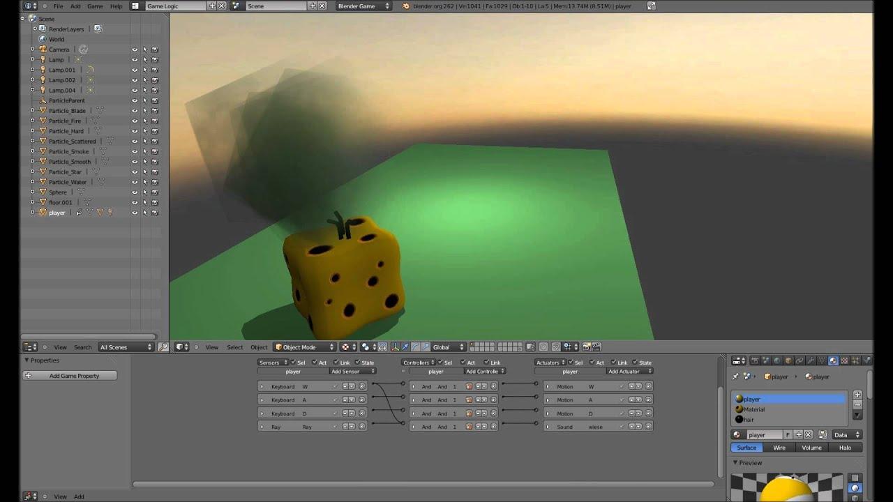 Schrittgeräusche - Blender 3D Game Engine Tutorial
