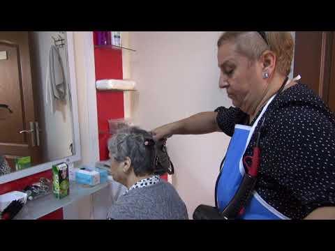 ASMEK'ten Huzurevi sakinlerine saç bakımı