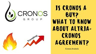 Is Cronos Stock a BUY for 2019? Why Altria Invest $1.8 BILLION EXPLAINED