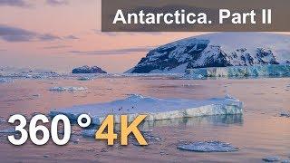 360°, Antarctica. Part II. 4K aerial video