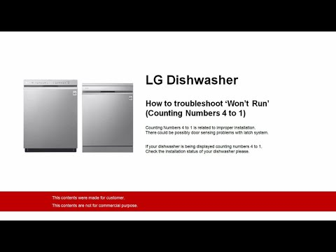 Dishwasher won't start  The time just keeps flashing — LG - Ask the