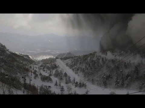 Japanese ski resort hit by avalanche after volcanic eruption