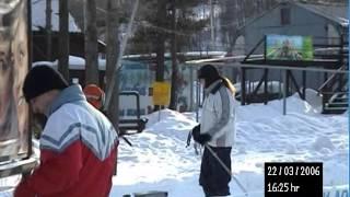 Ржачка - Падение, первый подъем на бугеле (горные лыжи)