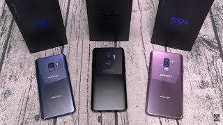 Samsung Galaxy S9 And Samsung Galaxy S9+ Unboxing - All 3 Colors