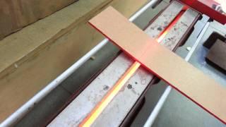 Bending by strip heater