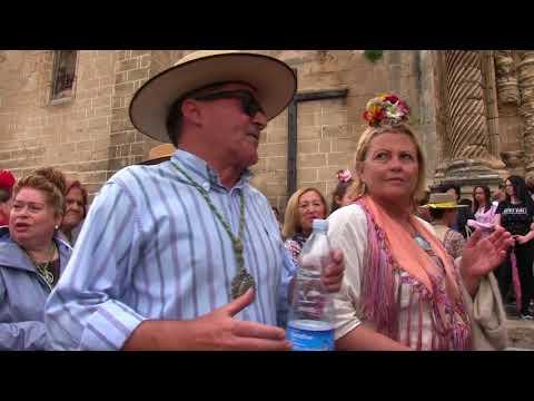 Llegada de los rocieros portuenses
