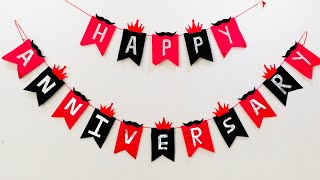 DIY Anniversary Banner Ideas At Home :: Anniversary Decoration Ideas :: Easy Banner Tutorial
