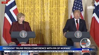 🔴WATCH: President Trump Press Conference with Prime Minister of Norway 1/10/18