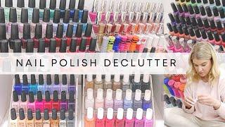 HUGE Nail Polish Declutter & Organisation
